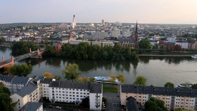 View to River Main Frankfurt